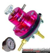 FSE Sytec Red Motorsport Adjustable Fuel Pressure Regulator 8mm And Free Gauge